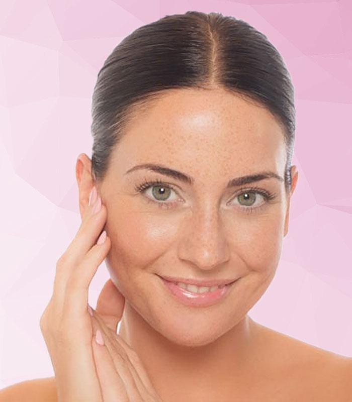Szép női arc szépségápolás Mora® Beauty
