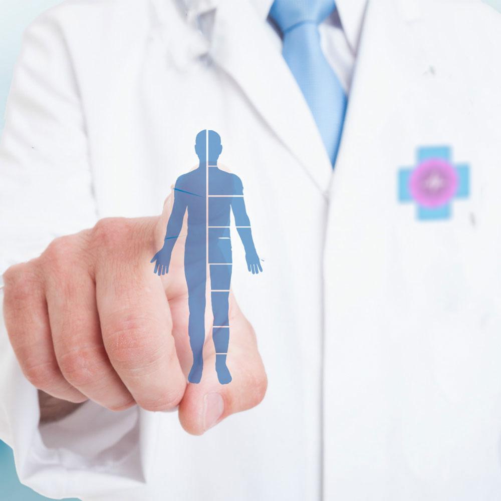 terapeuta emberi test grafikáját érinti meg